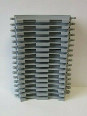 8 x LEGO DUPLO CURVED TRAIN TRACK Light Gray 6378 10882 10875 10874 NEW !!!