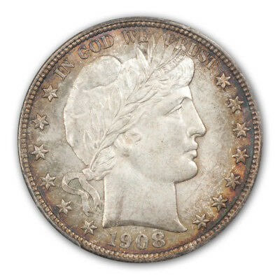 1908-D 50C Barber Half Dollar PCGS MS65