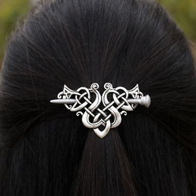 Large Celtics Knots Crown Hairpins Hair Clips Pin Jewelry Stick Slide 5Type Pick