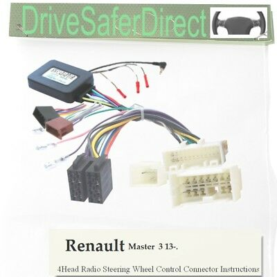 SWC-8417-10J Steering Control,ISO-JOIN for Joying Radio/Renault Master 13-