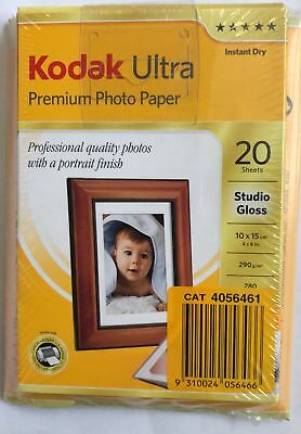 80 Sheets Kodak 4x6 Ultra Premium Photo Paper-  40x High Gloss+ 40x Studio Gloss