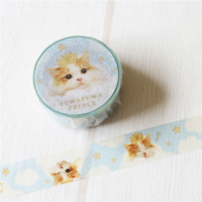 Washi Tape Tokotoko Circus: Fuwa Fuwa Prince Japanese Cat  Tape Made In Japan