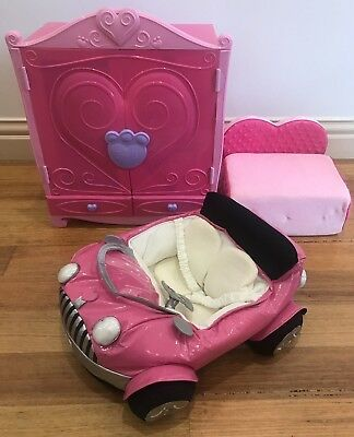 Build A Bear Car, Bed/couch, Wardrobe