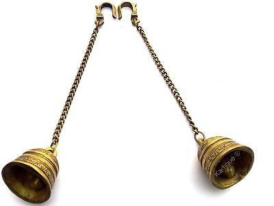 Pair of Brass Hanging Bell Chain
