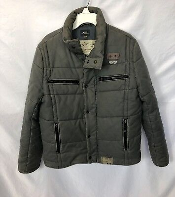 G-Star Raw Winter Outdoor Puffer Snow Jacket Gray Men's Size Large