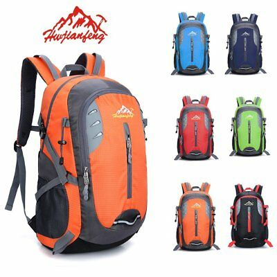 Large 40L Waterproof Hiking Camping Bag Travel Backpack Outdoor Luggage Rucksack