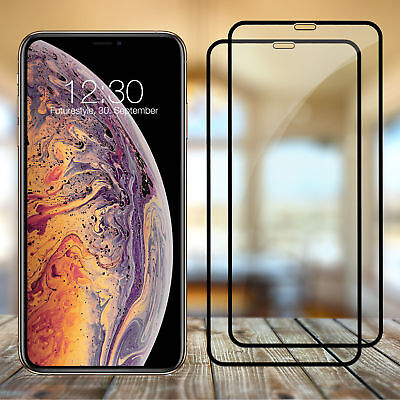 2x Für Apple iPhone XS MAX 3D Full Cover glasfolie Schutzglas 9H Echt Glas