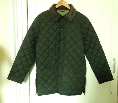 "Barbour Men's Lightweight Quilted Jacket: Size S/40"" Chest: Olive Green: New"