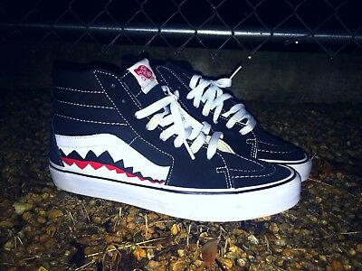 1051f1b44a5027 VANS CUSTOM OLD Skool Vans Bape Shark Teeth Custom Shoes -  100.99 ...