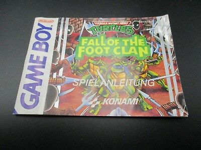 Turtles Fall of The Footclan Game Boy Classic Spielanleitung Anleitung Manual