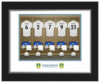 Personalised Leeds United FC Dressing Room Framed Print - Free Delivery