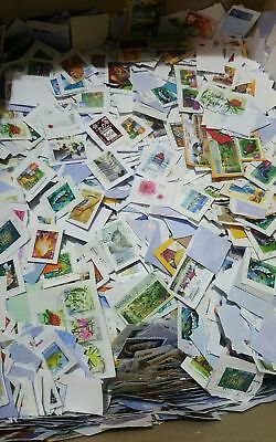 5kg of Mixed USED Australian Stamps Bulk Kiloware