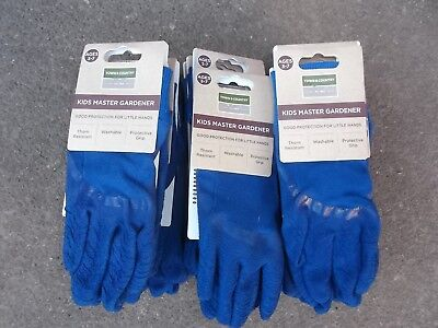 Town & Country Kids Children's Master Gardener Gloves Age 3-7 Job Lot 18 Pairs