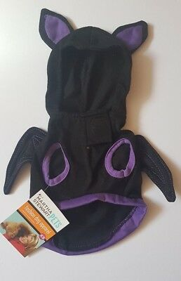Small Halloween Vampire Bat Hoodie with Wings Dog Costume Dog Fancy Dress Outfit