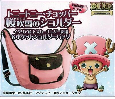 ONE PIECE Tony Tony Chopper shower of SAKURA 8 pockets Shoulder bag PREMICO New