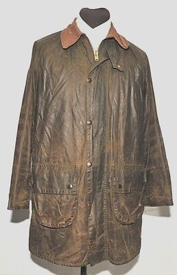 """Vintage Barbour Gamefair Wax Jacket Size Small 38"""" 97 Cm Green Two Crest"""