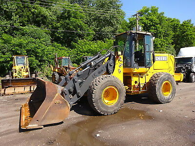 John Deere TC62H Wheel Loader CLEAN! 624H TOOL HANDLER JRB Q/C HEAT A/C 11K HRS