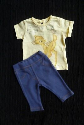 Baby clothes GIRL newborn 0-1m outfit Disney Bambi SS top/stretch soft trousers