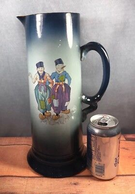 Antique USONA Goodwin Rare Image Dutch Men with Cigars Tankard / Pitcher 4J