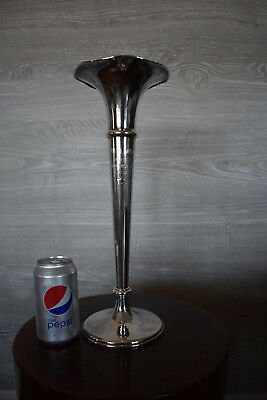 A 1921 Large 16 Inch Sterling Silver Golf Trophy-Black Starr & Frost