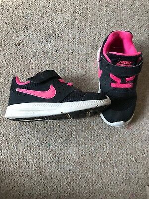 on sale 21b10 8eb8f Nike Girls Trainers Downshifter 7 Black Pink Size UK 7 Infant Toddler
