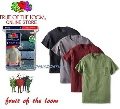 Fruit of the Loom® Men's  Cotton Pocket Tees in Assorted Colors 5-Pack