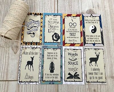 Harry Potter Gift Tags Wedding Favours Party Favours *twine Included* Set Of 20