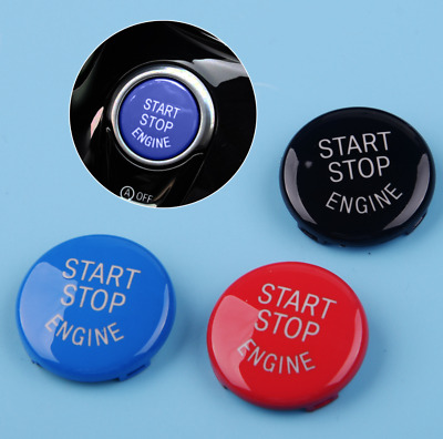 BMW Start/Stop Button Cover Switch Red Black Blue Car Engine Push Ring Ignition