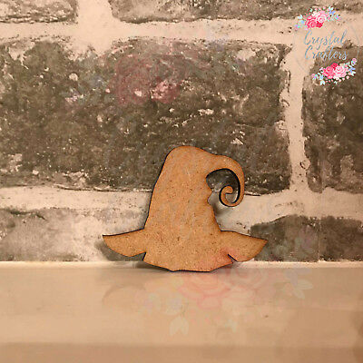 Wooden 3mm MDF Laser Cut Craft Shape Halloween Witch Broom Embellishments Tags