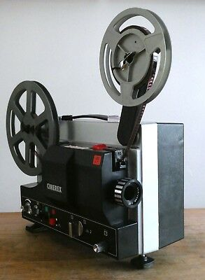 SUPERB Cinerex 510 Super 8mm Sound Projector Boxed Guaranteed Working