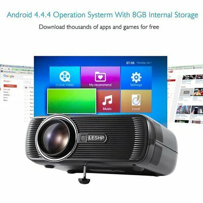 Home Cinema Projector LESHP 1200 Lumens Portable LED Mini Video Projector BB