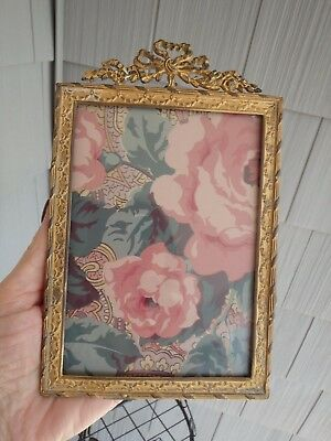 Antique Louis XVI Style Gilt Metal Ribbon And Bow French Picture Frame