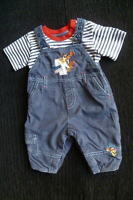 Baby clothes BOY GIRL 3-6m Disney Tigger outfit blue cord dungarees/SS t-shirt