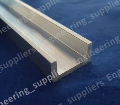 "1"" X 1/2"" X 1/8"" thk Aluminium unequal U Channel 100mm up to 600mm Long"