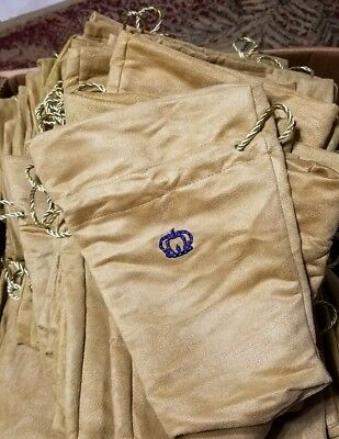 Crown Royal bags gold, large. Lot of 50