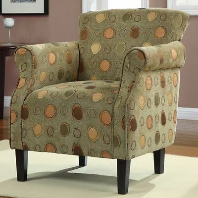 Tiburon Classic Grasshopper Accent Arm Chair Espresso Wood Finished Living Room