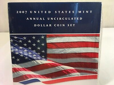 2007 U.S. Mint Annual Uncirculated Dollar Coin Set w/ Burnished Silver Eagle