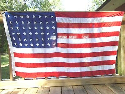Vintage Antique 48 Star US American Flag 3' x 5'
