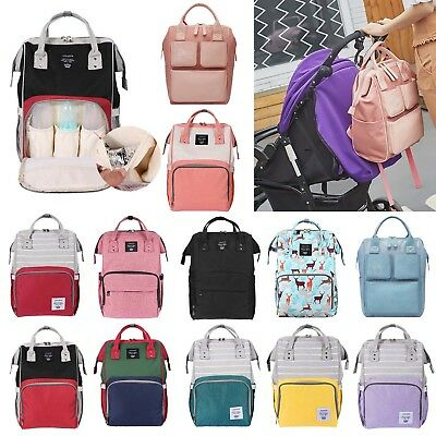 Mummy Maternity Diaper Nappy Bag Large Capacity Travel Backpack Baby Care Lot