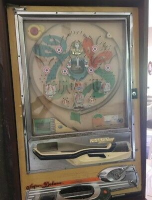 Pachinko Machine VINTAGE NISHIJIN Super Deluxe w/CUSTOM Stand Japan Made WORKS!