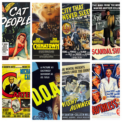Film Noir Movie Posters - 107 Designs Detective Films Thrillers Crime Wall Decor