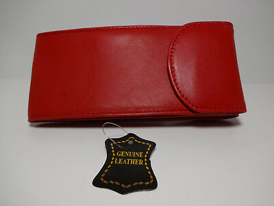Marshal Red Genuine Soft Leather Eyeglasses /IPhone 7 Multi-use Case #1508RD