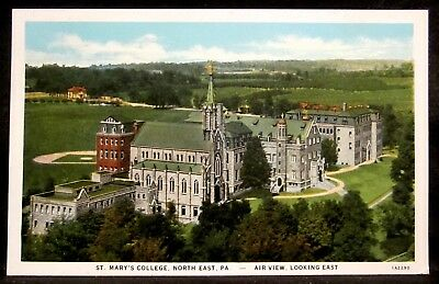 NORTH EAST, PA, St Mary's College Campus Buildings, Aerial, Pennsylvania