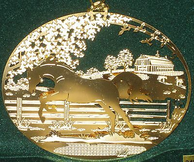 NEW IN BOX - Thoroughbred Horse 24k Gold Plated Ornament- Kingsheart Forge