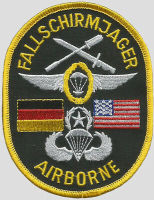 US and German Fallschirmjager Airborne Patch