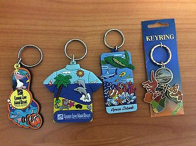 Lot of 4 Collectable  Couran Cove & Green island - Key Chains / Key Rings