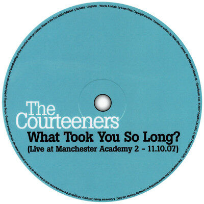 Courteeners. What Took You So Long? record label vinyl sticker. Manchester