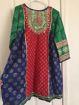 pakistani indian embroidery kurta/kurti Red, Blue, Green