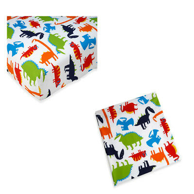 Carter's, Prehistoric Pals  Toddler Sheet set - Fitted & Flat - Dinosaurs