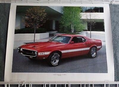 Vintage 1987 Power Graphics 1969 Shelby Mustang Cobra GT350 Poster 16x20""